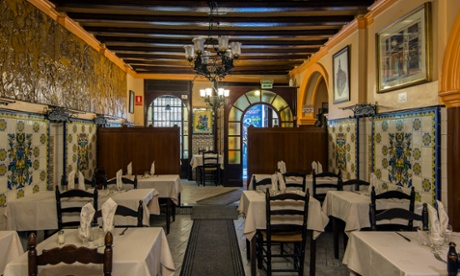 Interior of Can Culleretes, a 1786 dated restaurant, Barcelona, Catalonia, Spai