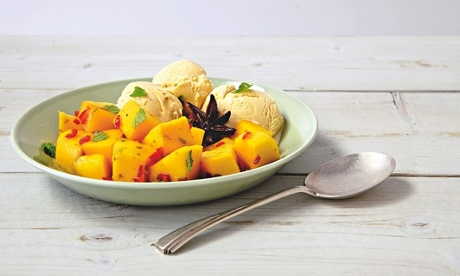 Thomasina Miers' chilled mango salad in anise-lime syrup