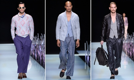 Giorgio Armani's Spring Summer 2016 menswear collection.