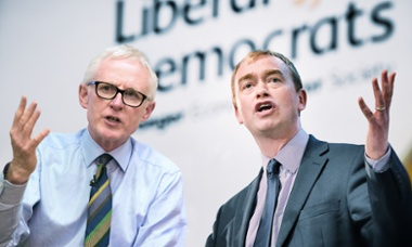 Former President of the Liberal Democrats Tim Farron and MP for North Norfolk, Norman Lamb.