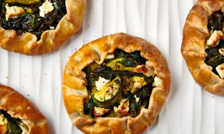 Thomasina Miers' courgette, chard and feta free-form pies: 'Seriously good.'