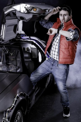 Nathan Cassidy as Marty McFly in Back to the Future
