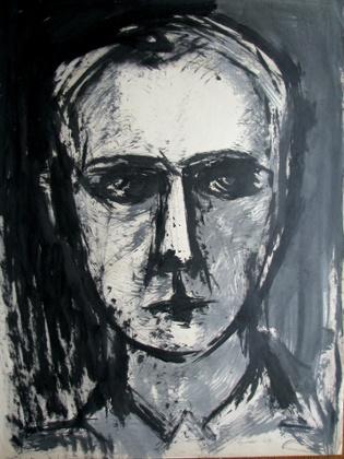 William Gear, Self-portrait, 1949.