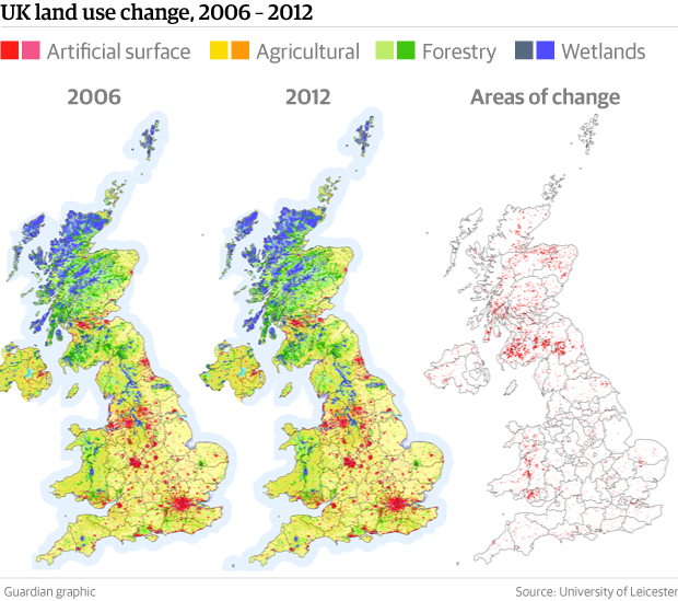 Map Of Uk Forests.How And Where Did Uk Lose City Sized Area Of Green Space In Just Six