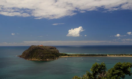 The view to Barrenjoey Lighthouse (Palm Beach, from West Head lookout) – where five waterways meet.