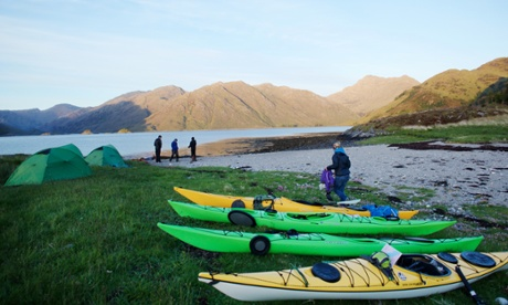 Kayaks parked and tents pitched … it's time to take in the view.