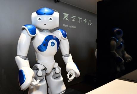 A robotic concierge at the Henn na