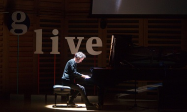 James Rhodes playing at a Guardian Live event, 14 September, Kings Place, London.
