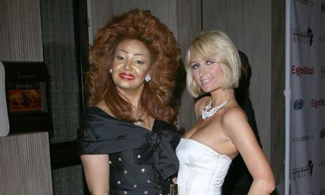 Paris Hilton with Cameroonian first lady Chantal Biya