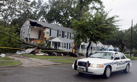 A falling tree killed a boy in Newport News, Virginia