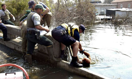 Fema rescue in New Orleans after Katrina, 2005