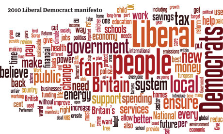 Party manifestos as a wordle
