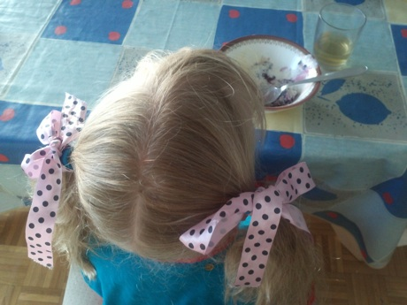 Decorated pigtails