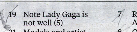 Note lady gaga