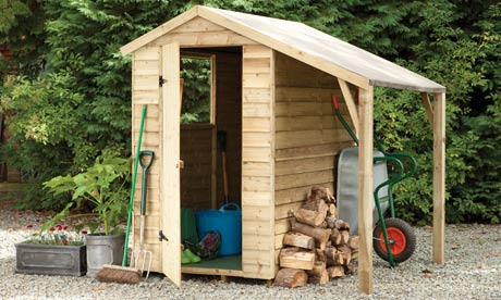 forest 6ft x 4ft overlap apex shed with lean to