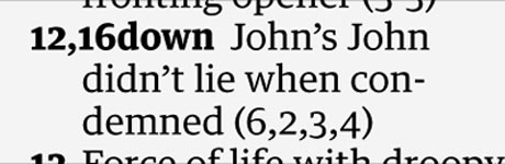 Crossword clue John's John