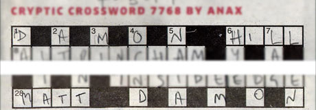 Crossword clue from Anax