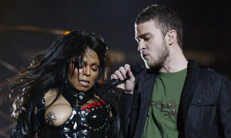 Janet Jackson and Justin Timberlake perform at Super Bowl XXXVIII in 2004