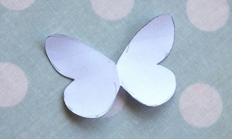 butterfly paper cut out template - how to make a paper butterfly garland life and style