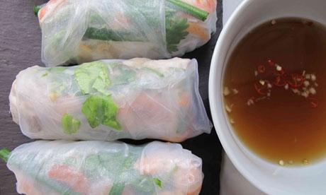Perfect Vietnamese summer rolls.