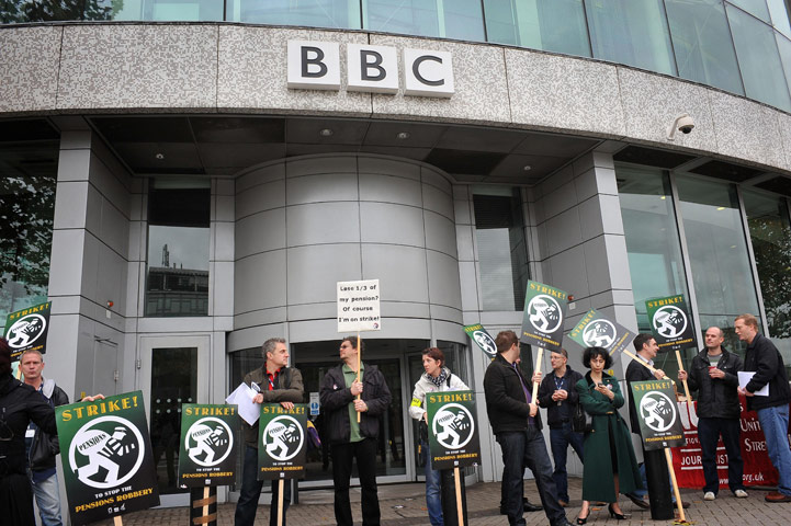 The BBC strike in pictures | Media | The Guardian