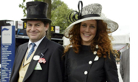 Rebekah Brooks and Charlie Brooks at Royal Ascot