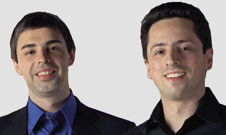 Sergey Brin and Larry Page | MediaGuardian 100 2010 ...