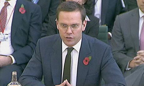 James Murdoch faces MPs - November 2011