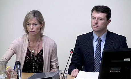 Leveson inquiry: Kate and Gerry McCann