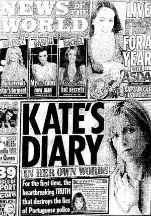 News of the World Kate McCann diary story
