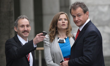 Twenty Twelve: Karl Theobald, Jessica Hynes and Hugh Bonneville