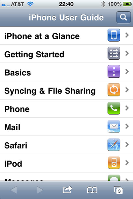 iPhone HTML5 manual