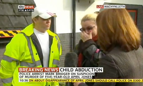 Kay Burley talks to volunteers searching for April Jones