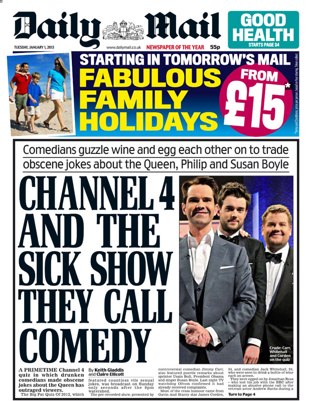 Channel 4 cleared over 'sick' quizshow that outraged Daily ...