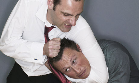 Headlock! stock photo. Image of business, businessman ...  Funny Headlock