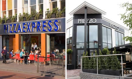 Pizza Express and Prezzo fronts