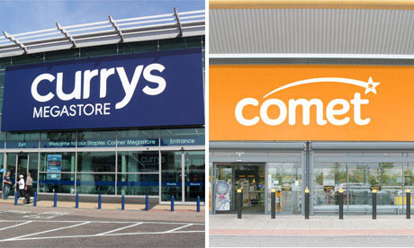 Exterior of Currys and Comet