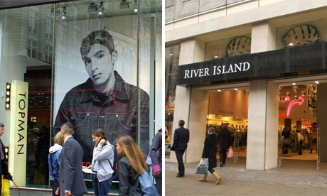 Topman and River Island shopfronts
