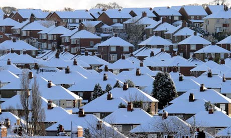 House roofs covered in snow