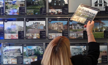 House prices inched up in February