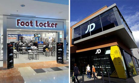 Foot Locker and JD Sports shop fronts