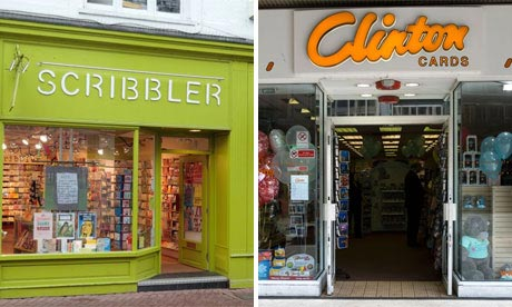 Store Wars Scribbler And Clinton Cards Money Theguardian Com