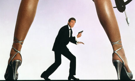 Roger Moore in the James Bond For Your Eyes Only poster