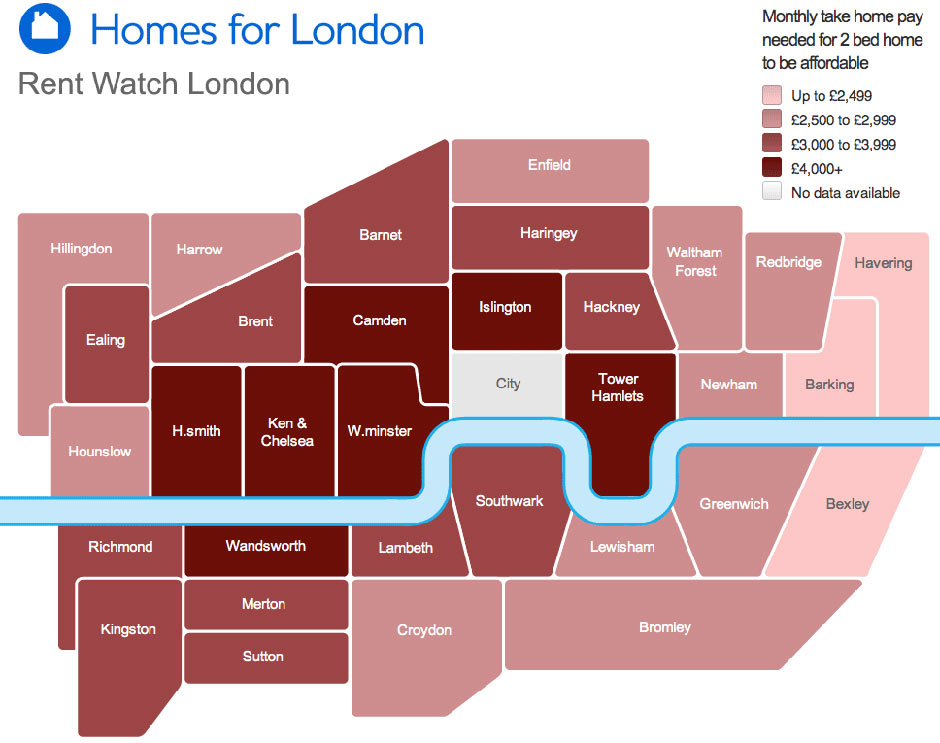 Families need a £52,000 income 'to afford London rent ...