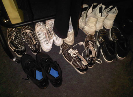 The Edge - backstage, shoes