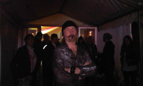 The Edge - back stage