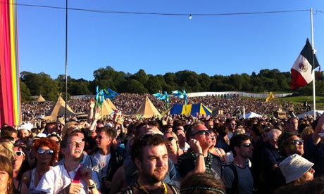 The crowd at Pulp, Glastonbury festival 2011