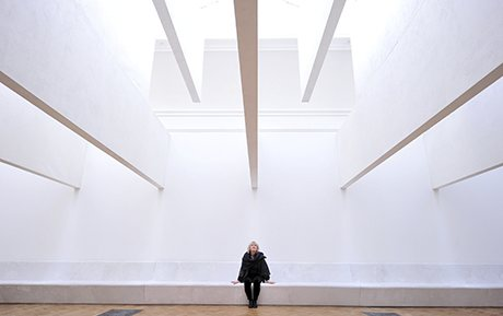 Irish architect Yvonne Farrell poses nex
