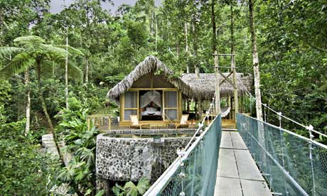 The honeymoon suite at Pacuare Lodge, Costa Rica