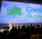 The Conservative logo at the party's conference on September 30 2007. Photograph: Graeme Robertson.